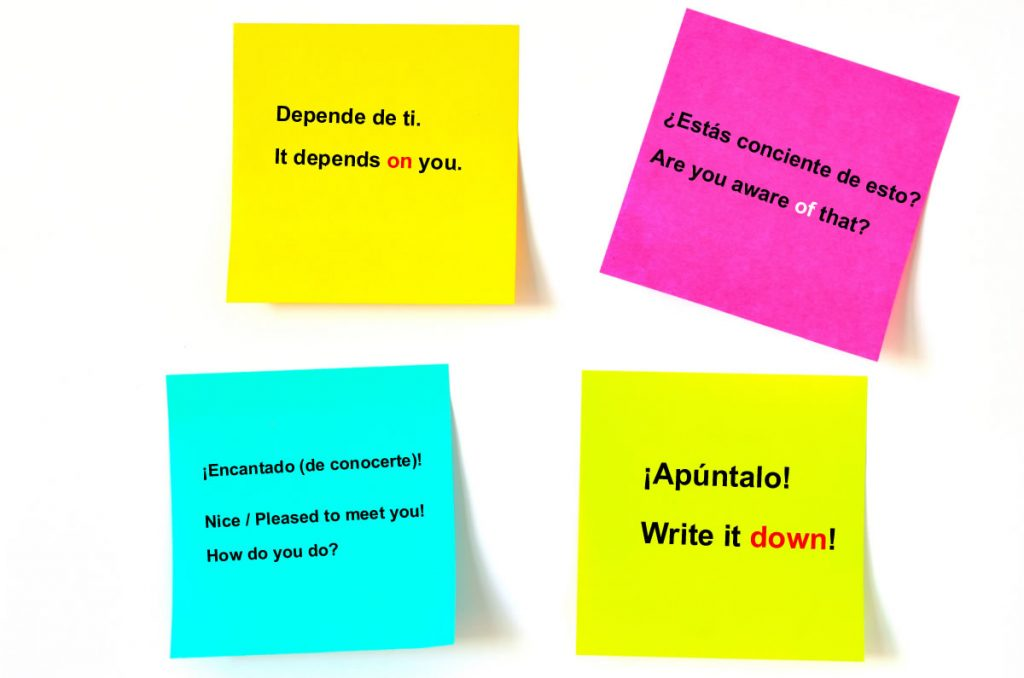 Learning Languages with Postits