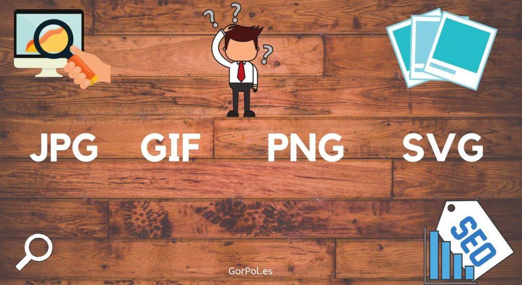 JPG vs GIF vs PNG vs SVG